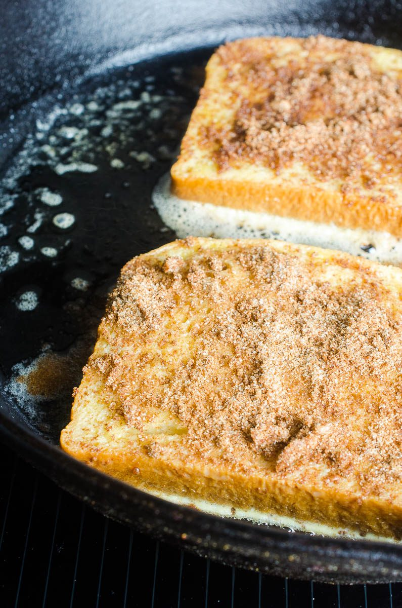 French Toast topped with Cinnamon Streusel