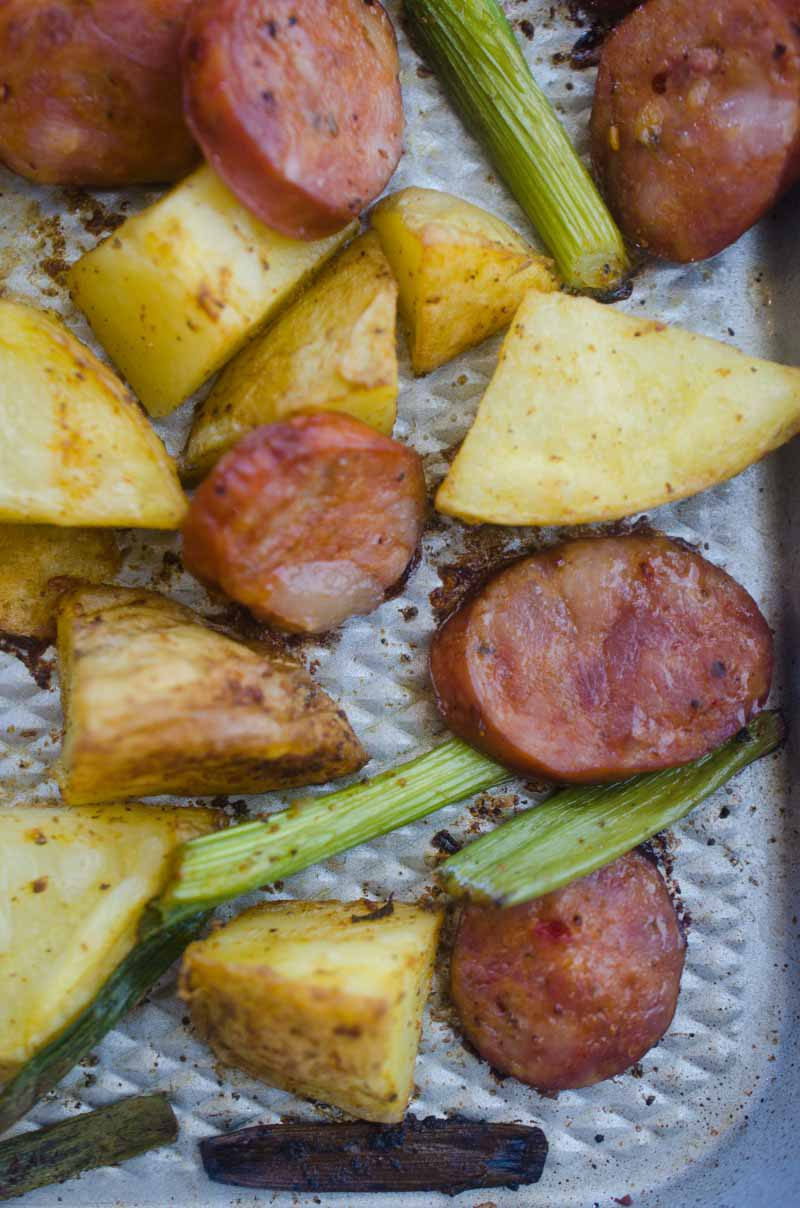 If you are looking for a quick and easy meal this is it! Andouille Potato Sheet Pan Dinner is an easy and flavor packed meal that is perfect for weeknights.