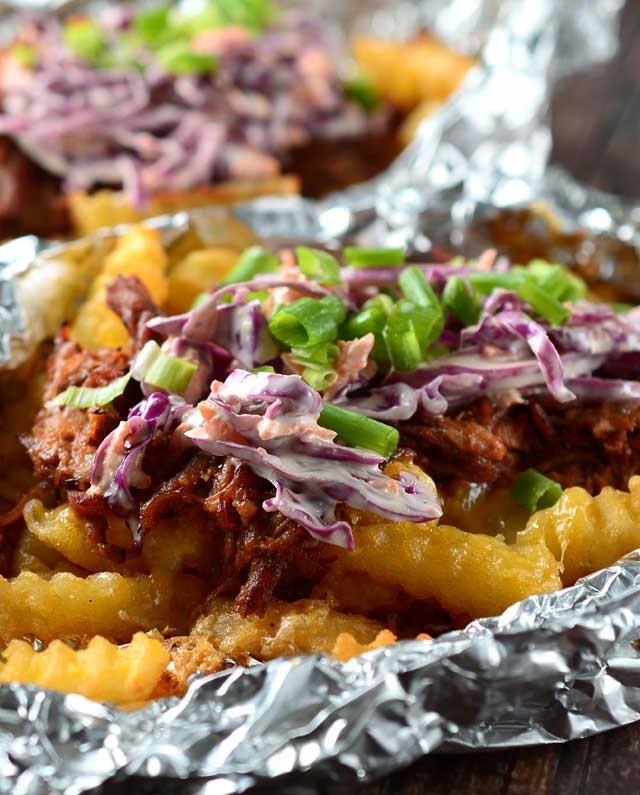 BBQ Pulled Pork Tailgate Fries