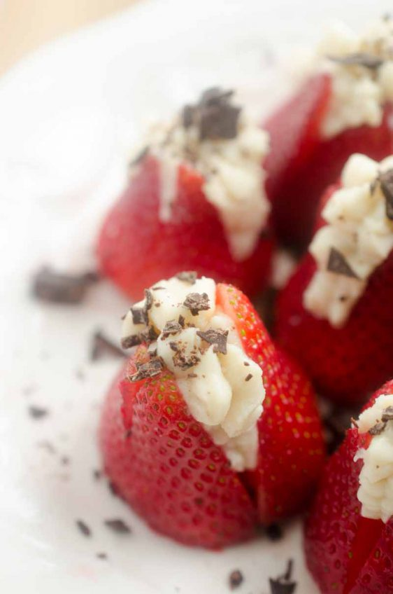 Boozy Stuffed Strawberries