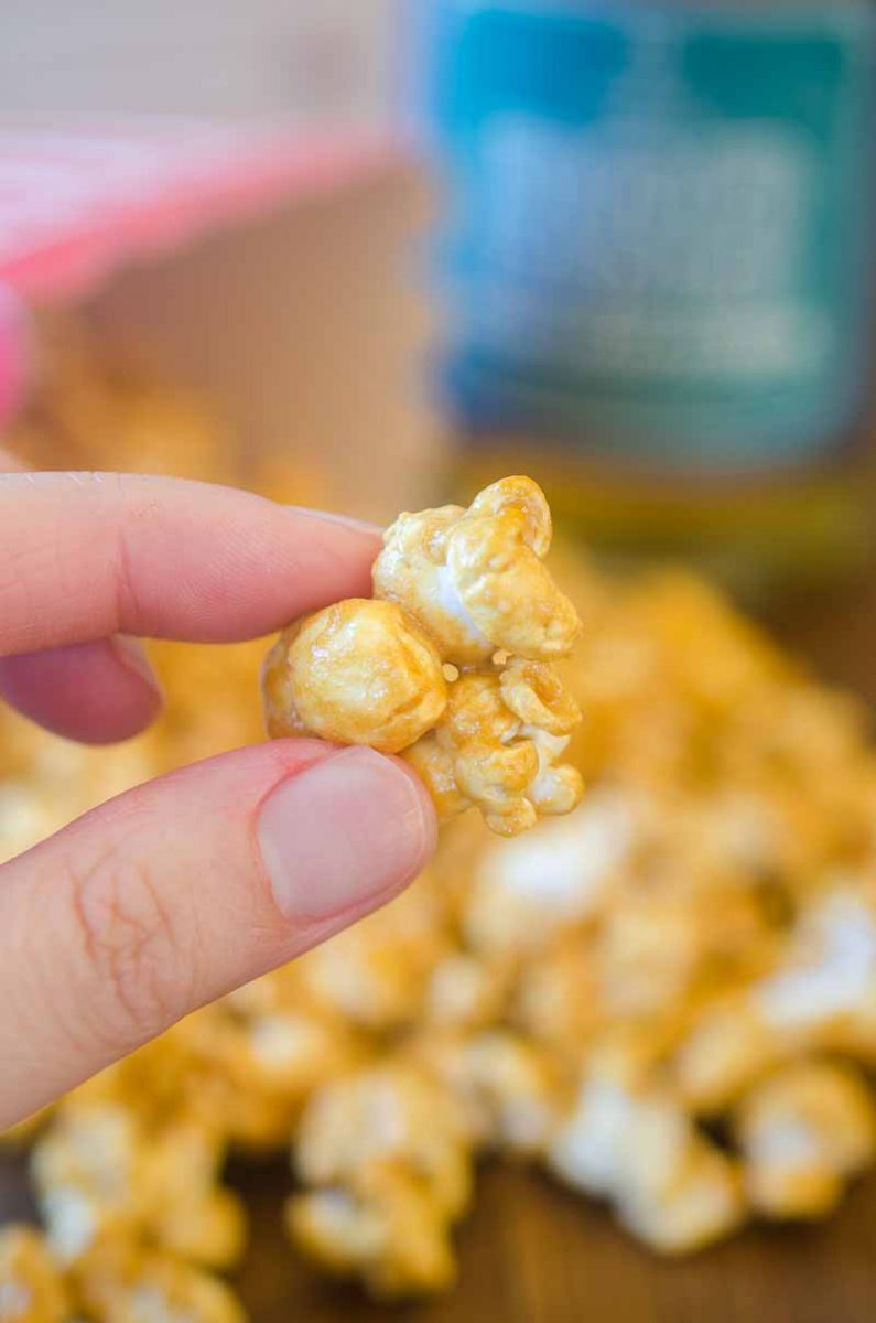 Easy Homemade Bourbon Caramel Corn
