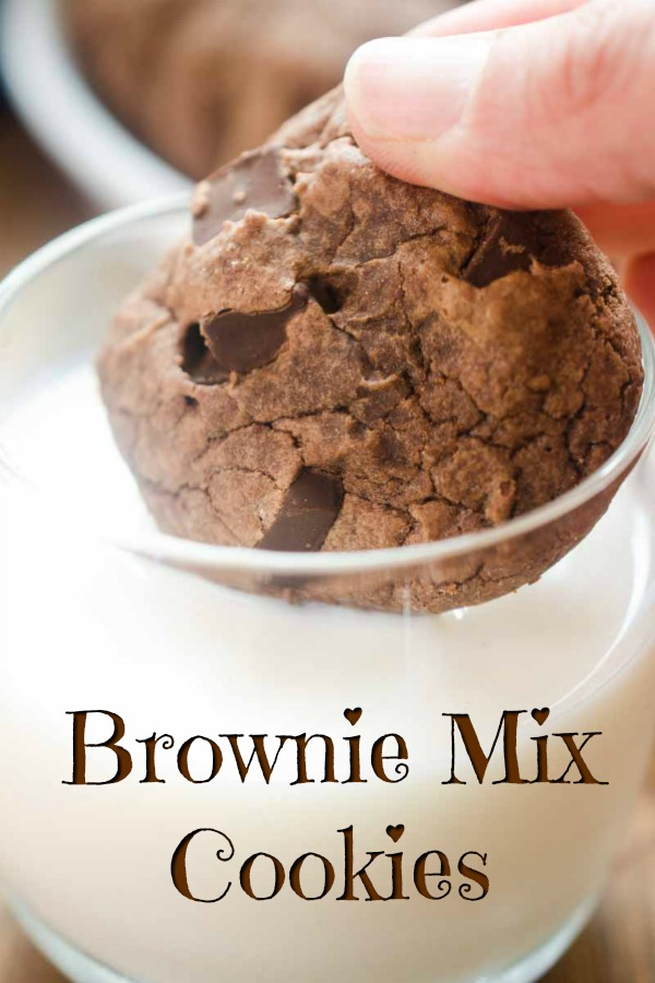 Brownie mix cookies are a chocolate lover's dream and couldn't be easier to make! #browniecookies #browniemix #chocolate #cookies