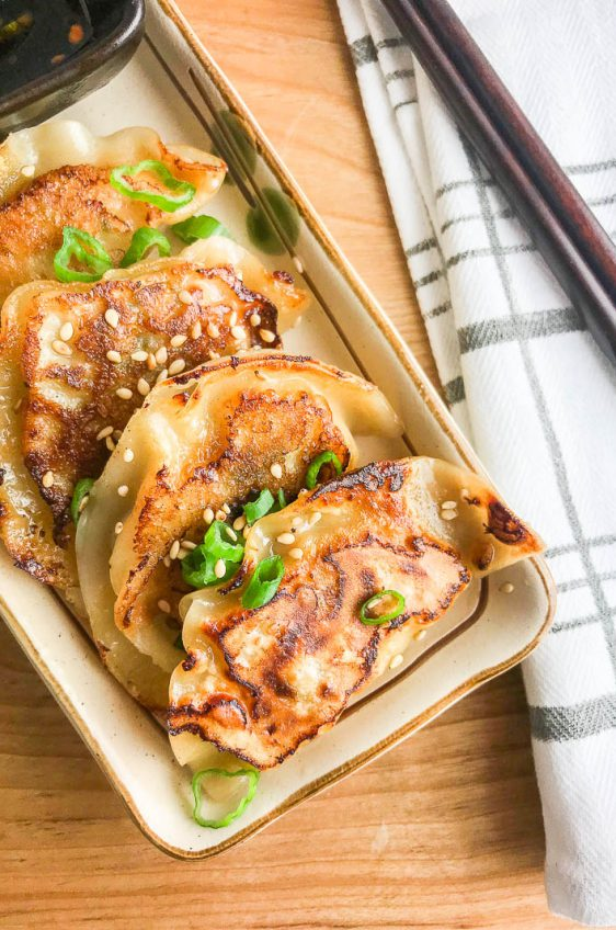 Spicy Sesame Chicken Potstickers