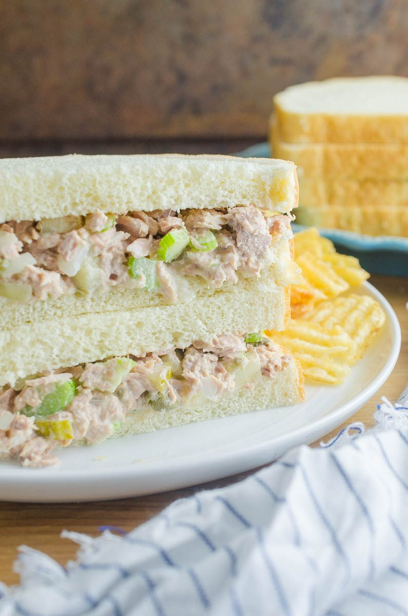 Classic Tuna Salad is a great, protein packed option for lunch. Serve it on sandwiches, crackers or with lettuce for wraps. It's full of flavor and ready in a flash!
