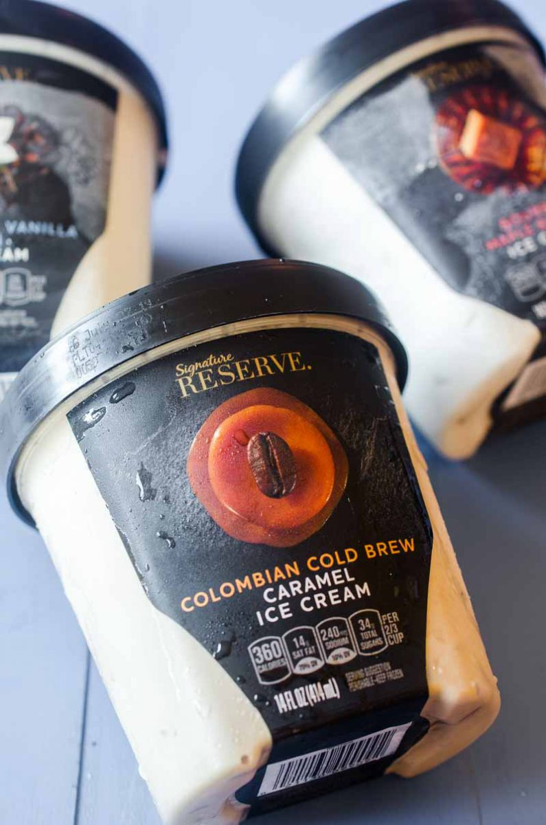 Cold Brew Caramel Ice Cream Brownie Bars are every bit as indulgent as they sound thanks to the NEW Signature Reserve™ Super Premium Ice Cream.