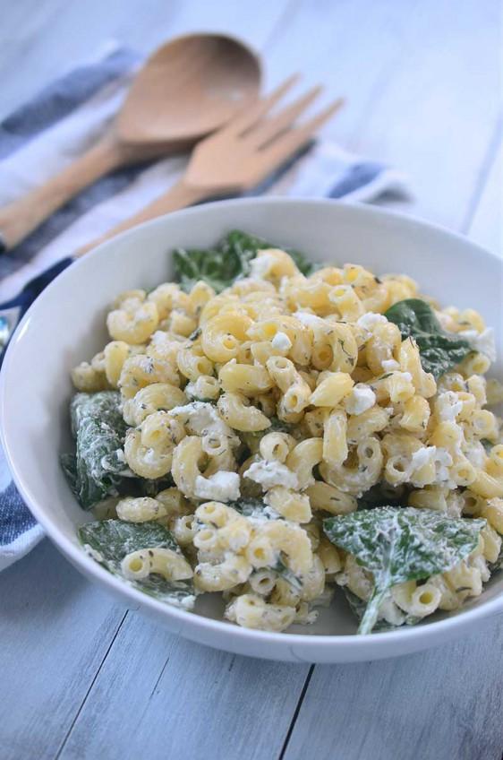 Creamy Goat Cheese Pasta Salad