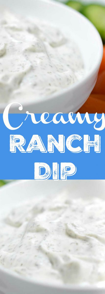 Creamy ranch dip is creamy and easy to make. This homemade ranch dip with mayonnaise, sour cream, vinegar and dill, is perfect for all of your dipping.