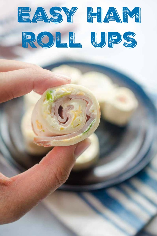 Easy Ham Roll Ups are a quick and easy appetizer that is perfect for tailgating, parties and even the kiddos lunches!