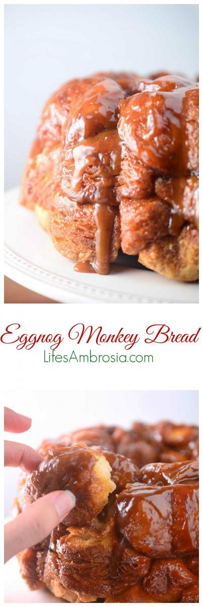 Eggnog Monkey Bread