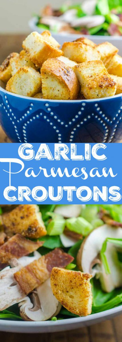 Every good salad needs some crunch. Homemade Garlic Parmesan Croutons are easy to make and add the tasty crunch you crave.