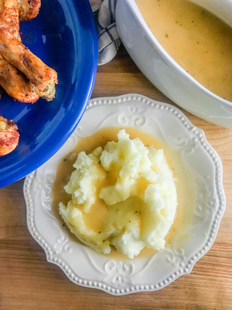 A classic gravy recipes that requires only three ingredients. Use this technique to make turkey gravy, chicken gravy or beef gravy.