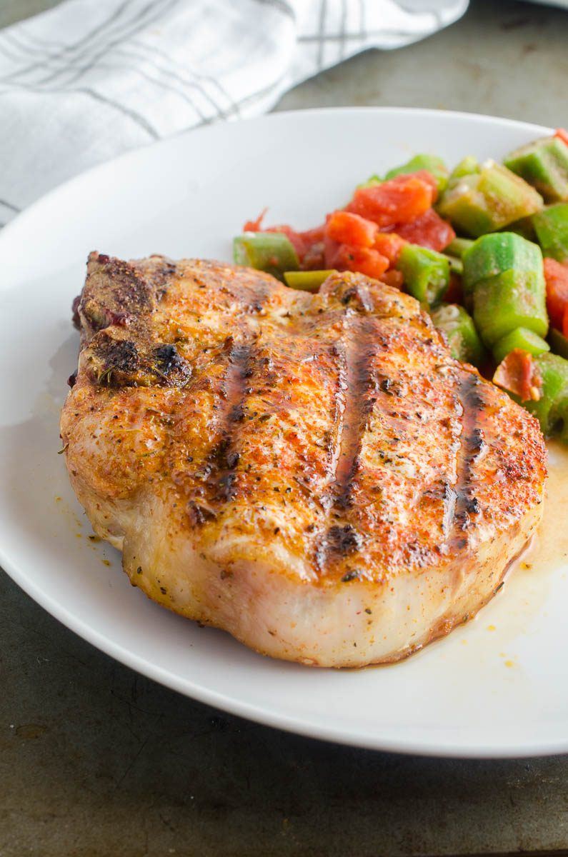 How to cook juicy grilled pork chops