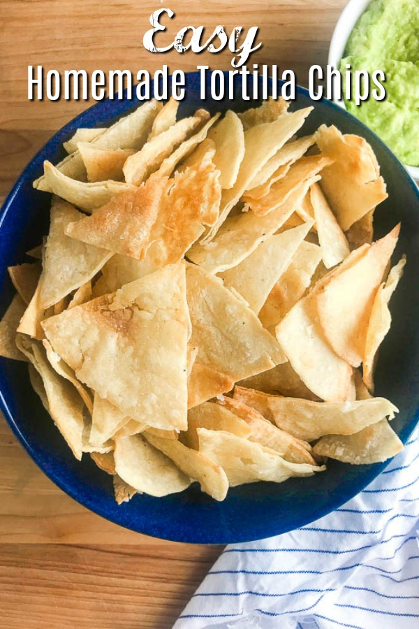 All you need to make your own homemade tortilla chips is 3 ingredients and 15 minutes in the oven. They are great for dipping in all the things! #bakedtortillachips #homemadetortillachips #tortillachips