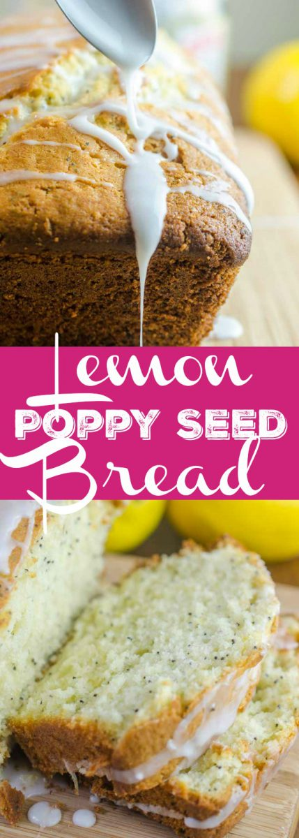 This Lemon Poppyseed Bread is the perfect spring time dessert. It works well for brunches, breakfasts on the go and your afternoon coffee break!