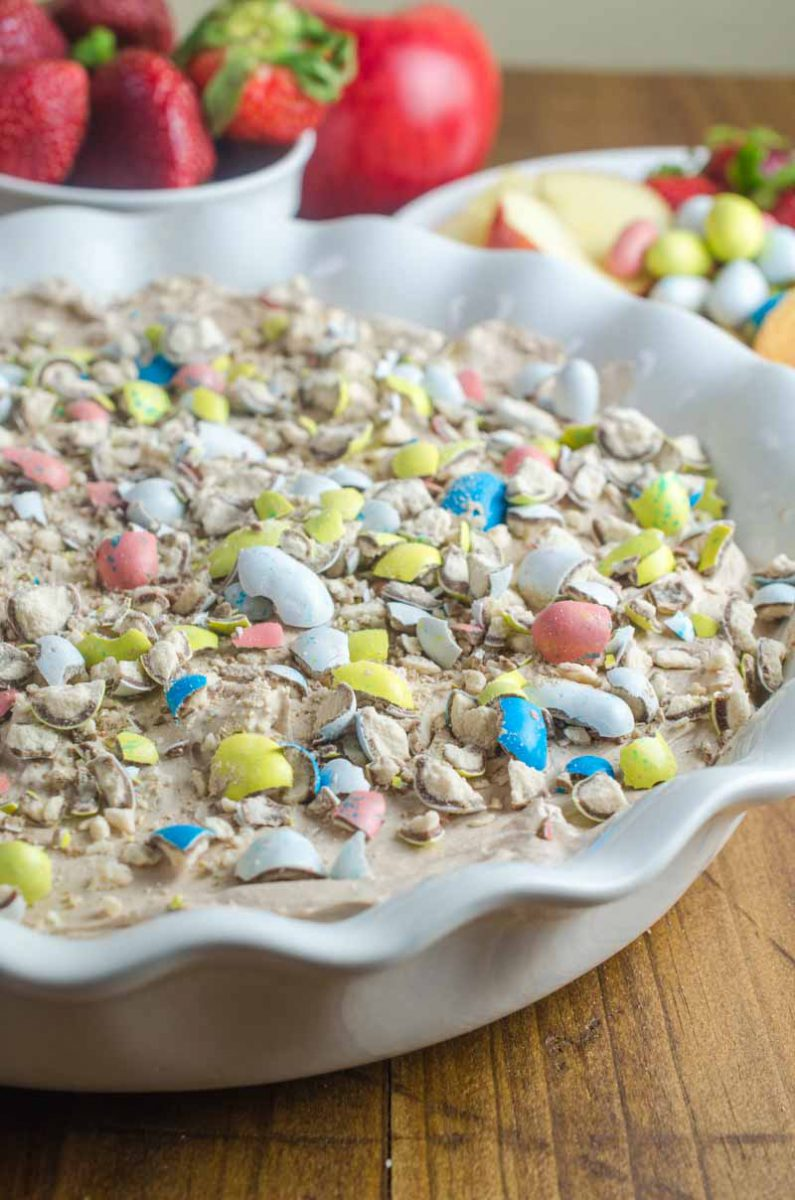 Malted Robin Egg Cheesecake Dip is a delectable no bake dessert perfect for all of your Easter celebrations. With only six ingredients it's a breeze to make.