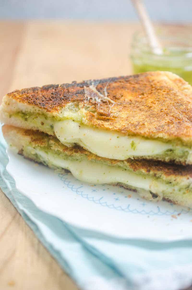 Pesto Grilled Cheese - Life's Ambrosia