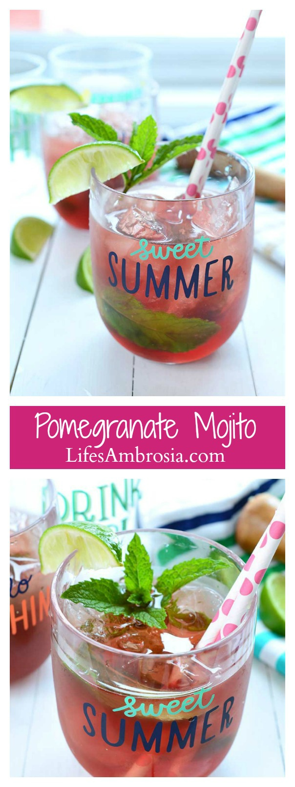 Pomegranate Mojito Collage