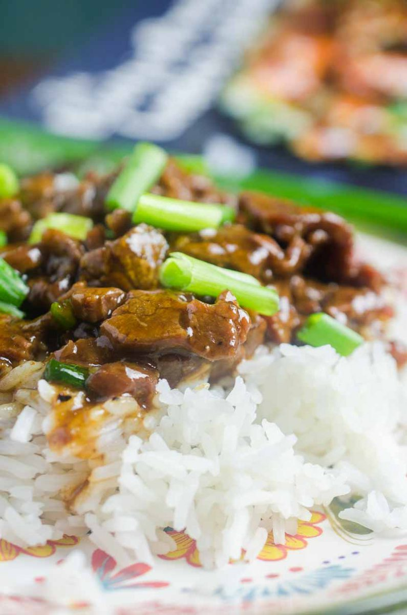 Pressure Cooker Mongolian Beef is tender, full of flavor and can be made in a flash. It is a must make for pressure cooker users!