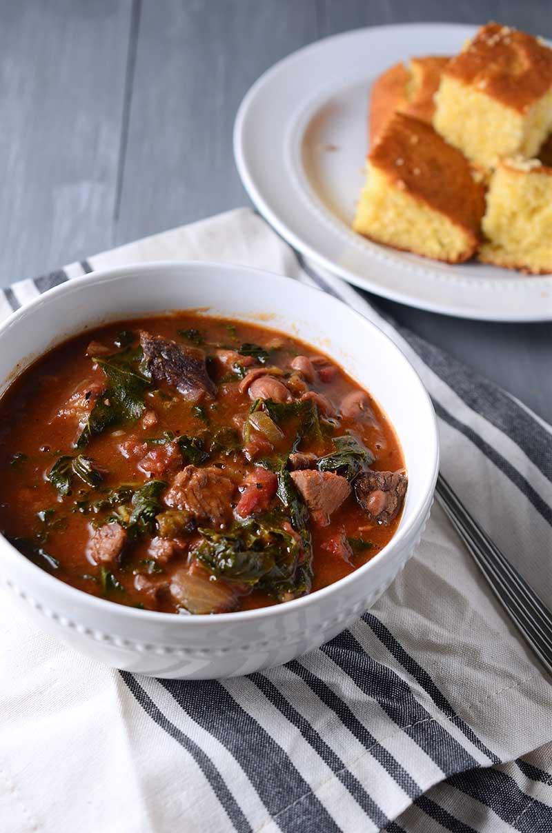 Recipe for Prime Rib and Kale Chili - Life's Ambrosia Life's Ambrosia