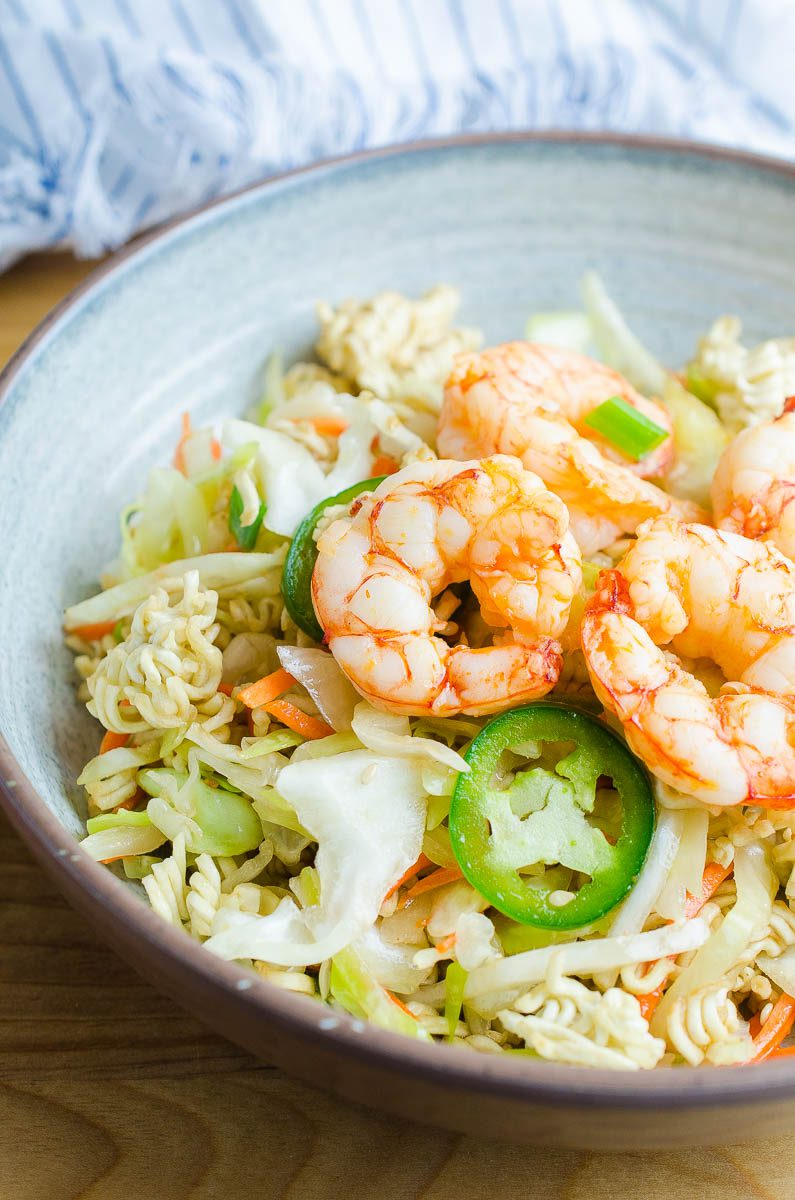 How to make Ramen Noodle Salad with Shrimp