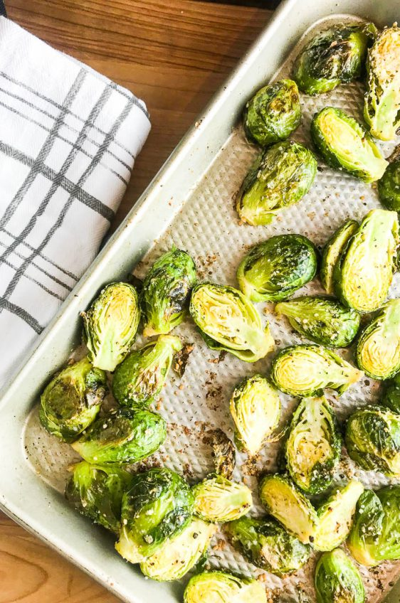 Roasted Brussel Sprouts with Parmesan