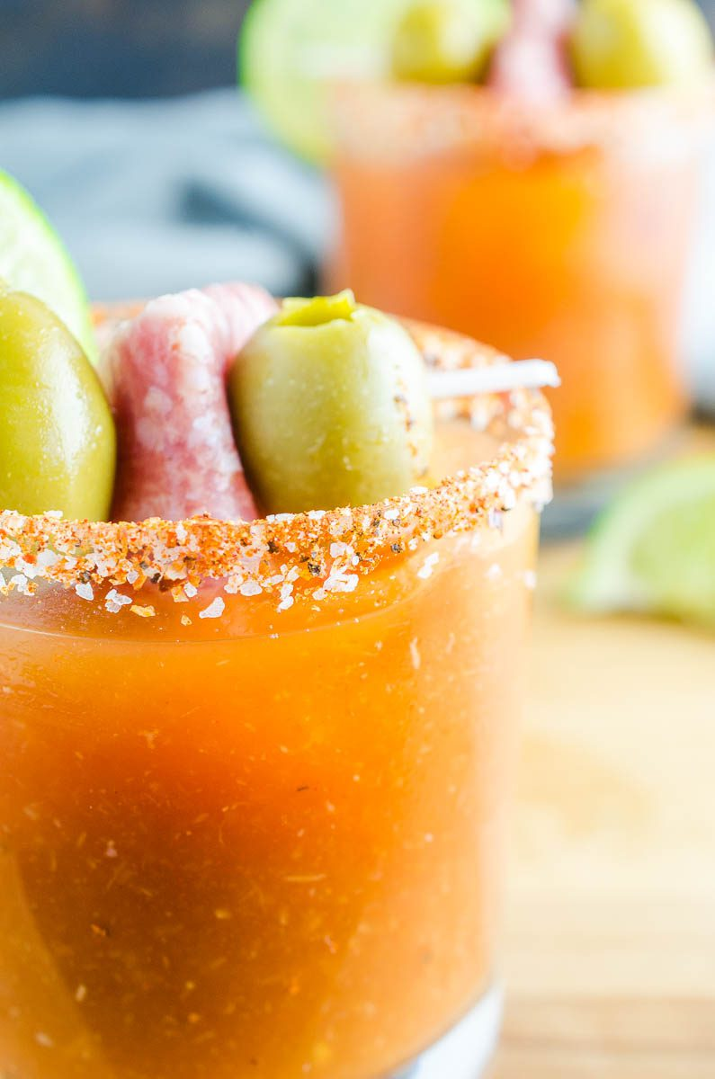 A Spicy Bloody Mary Cocktail is the perfect cocktail for brunch or any time of day. This is a cocktail spicy food lovers will adore!