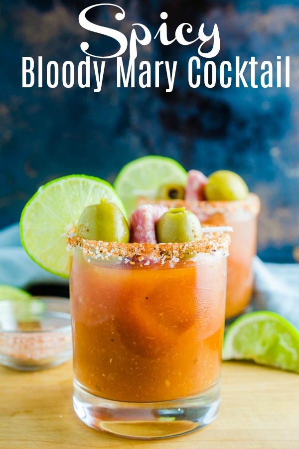 A Spicy Bloody Mary Cocktail is the perfect cocktail for brunch or any time of day. This is a cocktail spicy food lovers will adore! #cocktail #bloodymary #spicyfood #cajun