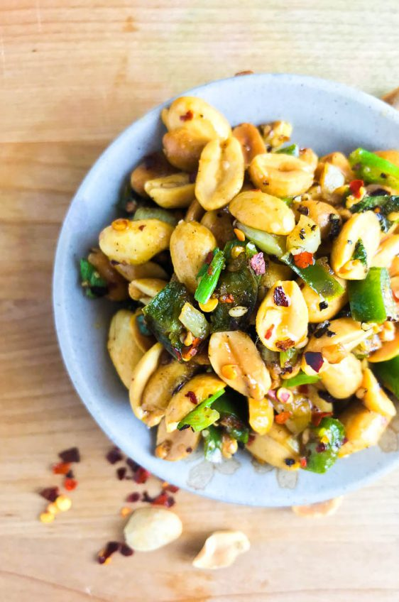 Spicy Fried Peanuts