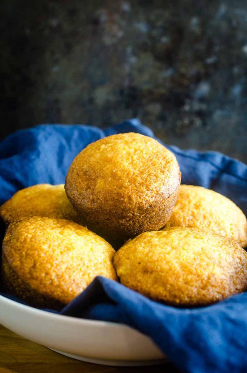 Sweet Cornbread Muffins are tender, moist and have a hint of sweetness. They are a classic for a reason! Serve them with your favorite soup, chili or as a side dish for your holiday meal.